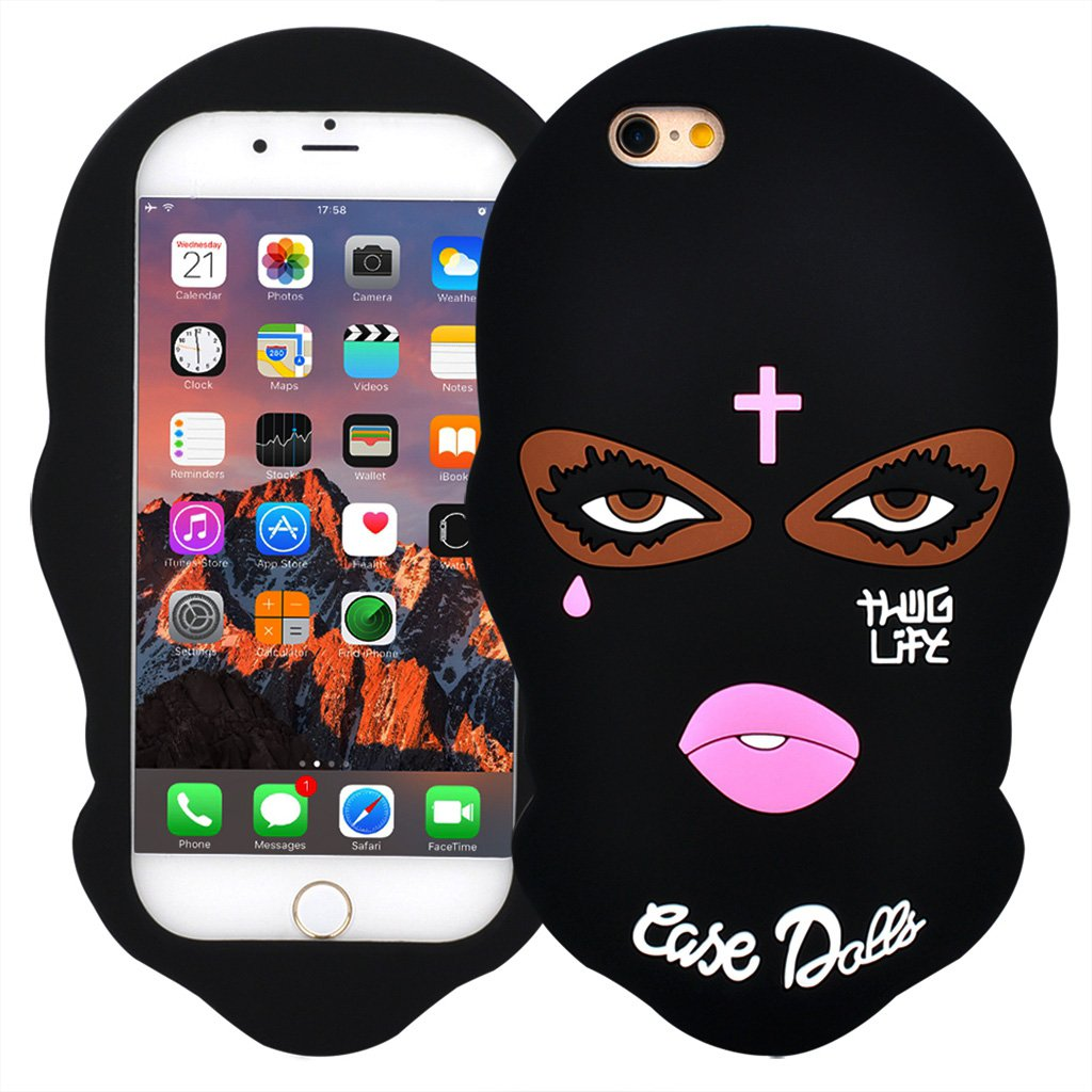 verylulu iphone 7 case goon thug life big eyes woman face 3d cute cartoon masked teared girls. Black Bedroom Furniture Sets. Home Design Ideas