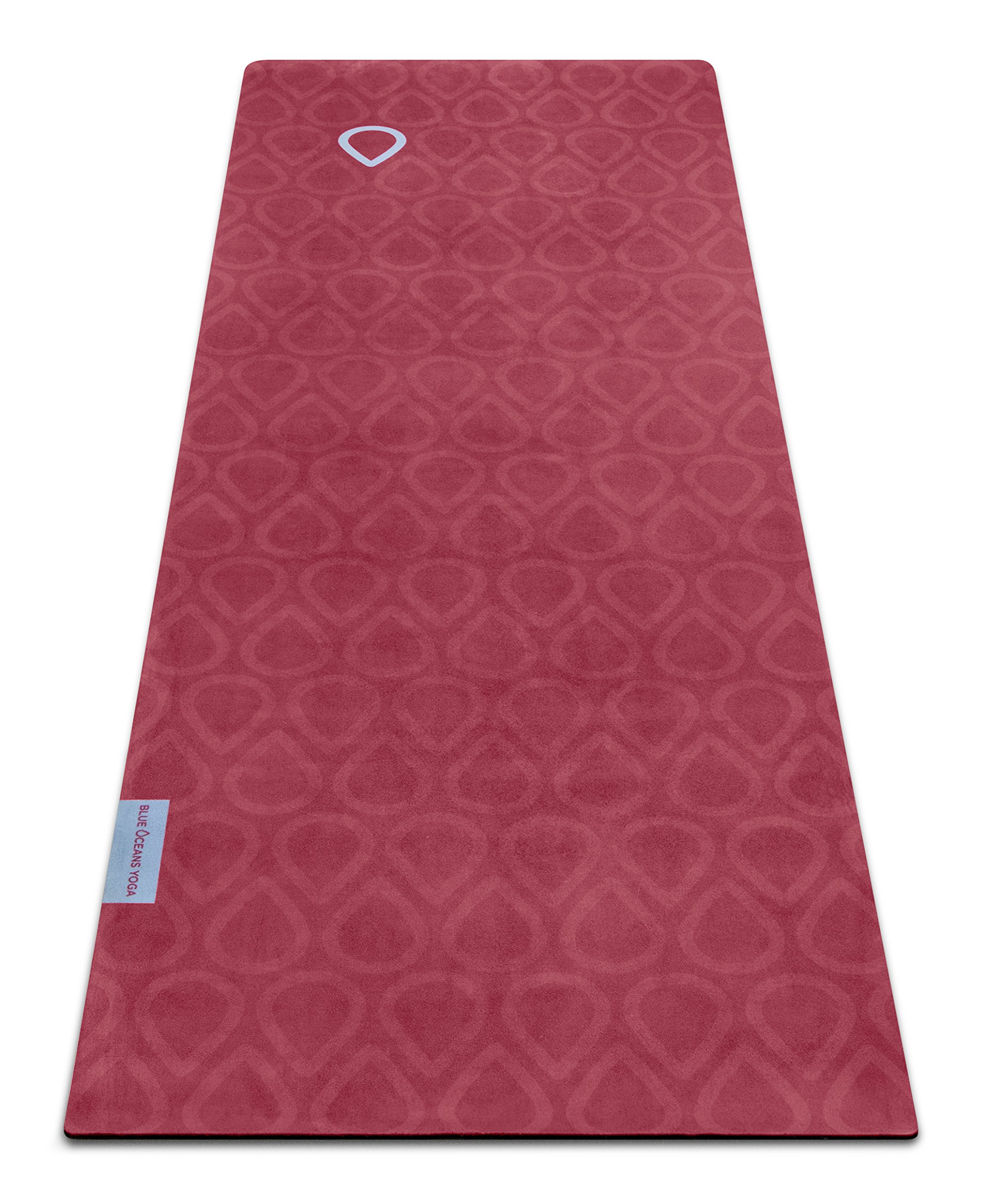 Blue Oceans Yoga Bikram Yoga Mat And Towel Combo 4 5mm
