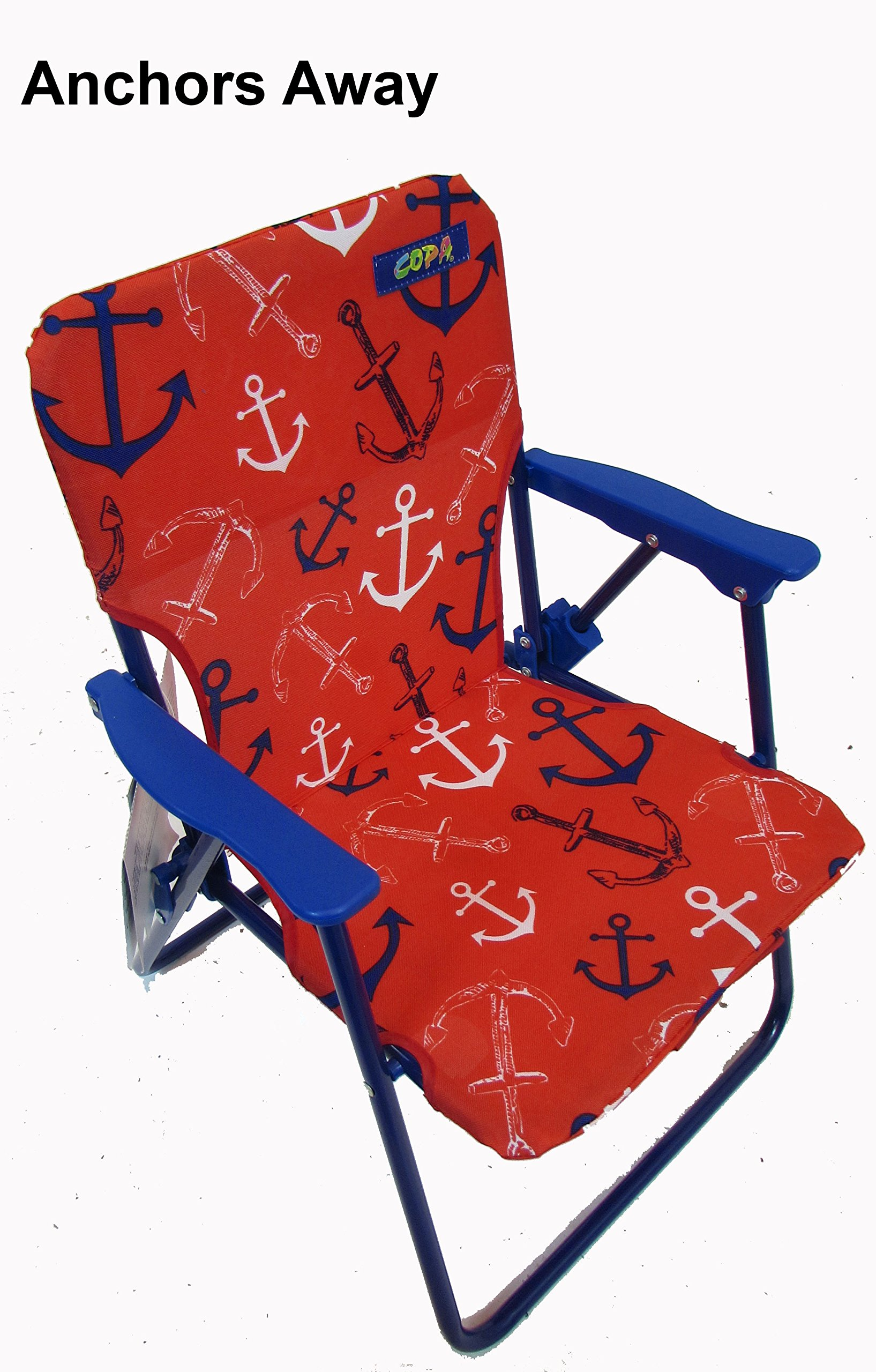 Kids Folding Backpack Beach Chair Anchors Away Product8