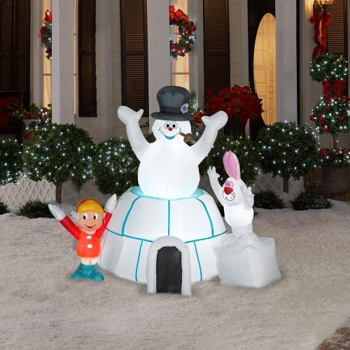 8 Airblown Inflatable Santa Penguin Coffee Shop Igloo: CHRISTMAS DECORATION LAWN YARD INFLATABLE AIRBLOWN FROSTY