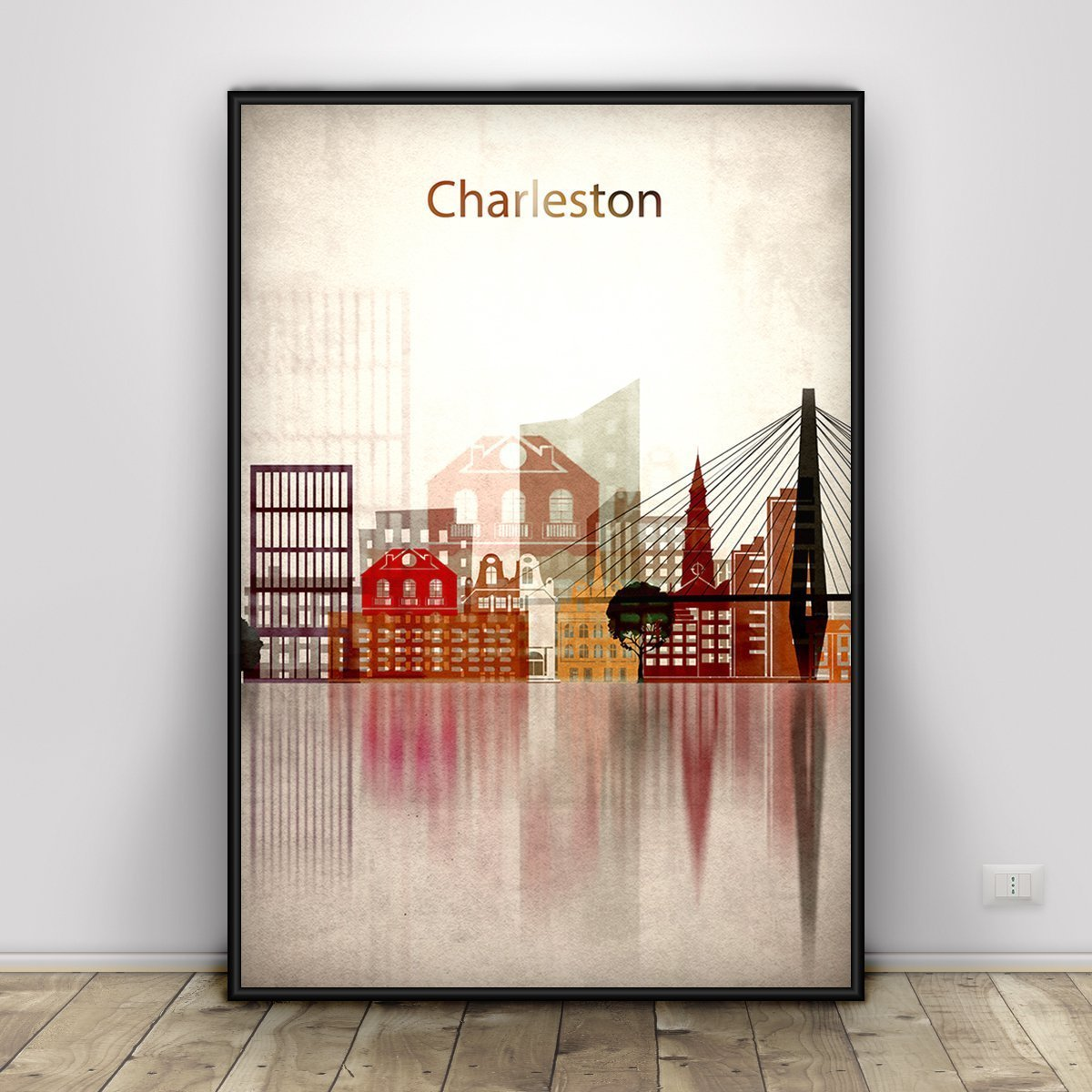 Charleston Print, South Carolina, Charleston Skyline