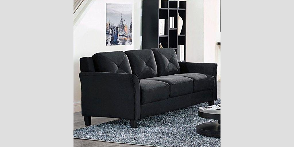 Lifestyle Solutions Cchrfks3m26bkva Harrington Sofa Black