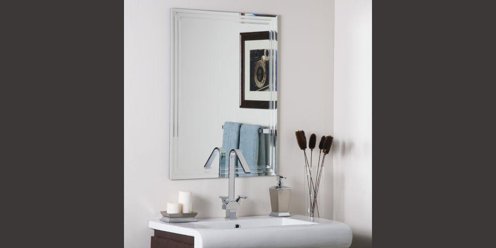 Decor Wonderland Frameless Tri Bevel Wall Mirror Product8