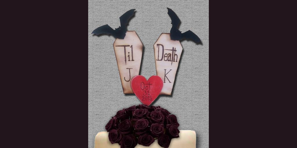 Coffin Wedding Cake Topper